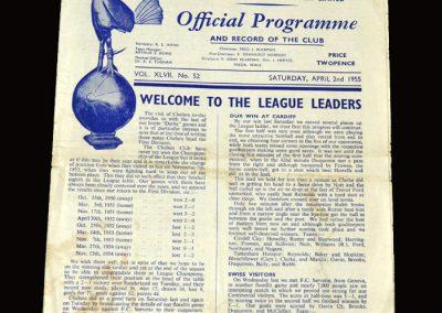 Spurs v Chelsea 02.04.1955 2-4