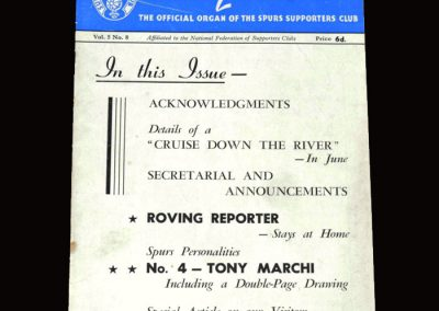 Spurs Lillywhite April 1955