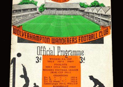 Wolves v Preston 02.04.1955 1-1