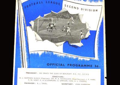 Bristol Rovers v Hull 02.04.1955 1-0