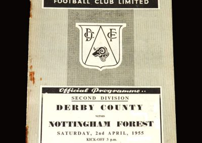 Derby v Notts Forest 02.04.1955 1-2