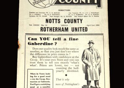 Notts County v Rotheram 02.04.1955 3-2