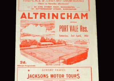 Altringham Res v Port Vale Res 02.04.1955