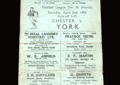 Chester v York 02.04.1955 1-2