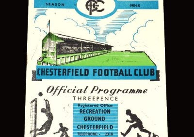 Chesterfield v Bradford City 02.04.1955 2-1