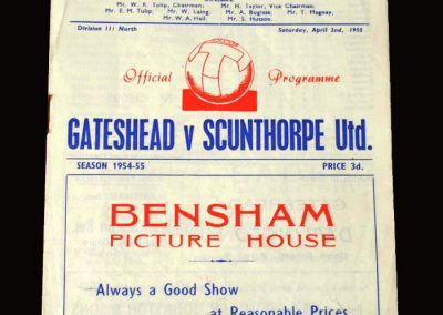 Gateshead v Scunthorpe 02.04.1955 0-1