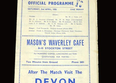 Hartlepool v Wrexham 02.04.1955 3-0