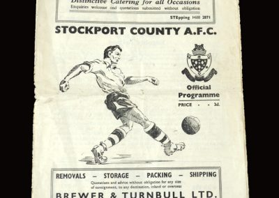 Stockport v Accrington St 02.04.1955 0-0