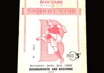 Bournemouth v Walsall 02.04.1955 1-1