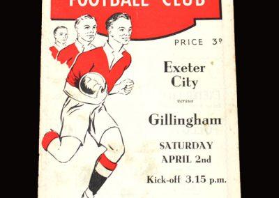 Exeter v Gillingham 02.04.1955 1-1