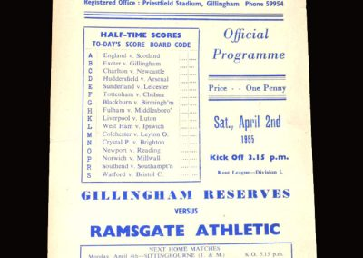 Gillingham Res v Ramsgate 02.04.1955