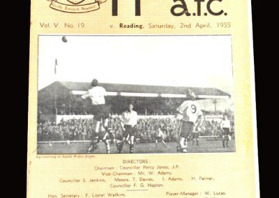 Newport County v Reading 02.04.1955 3-1