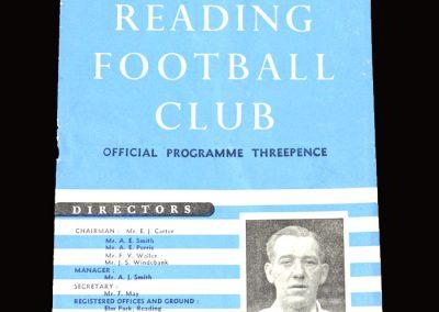 Reading Reserves v QPR Reserves 02.04.1955