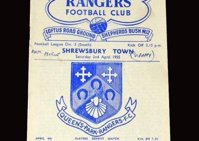 QPR V Shrewbury Town 02.04.1955 2-0