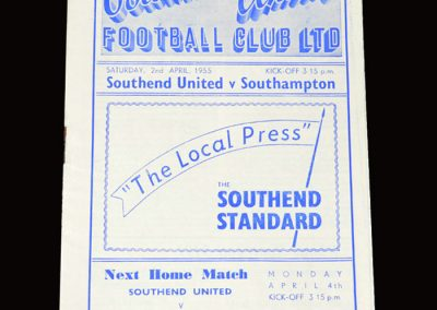 Southend United v Southampton 02.04.1955 0-1