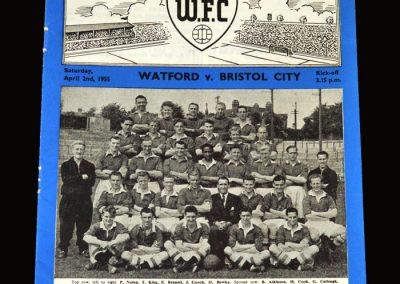 Watford v Bristol City 02.04.1955 0-2