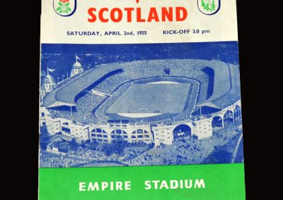 England v Scotland 02.04.1955 (Edwards Debut)