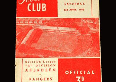 Aberdeen v Rangers 02.04.1955 4-0