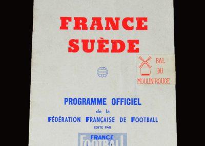 France v Sweden 03.04.1955