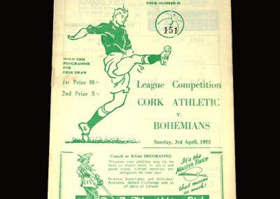 Cork v Bohemians 03.04.1955