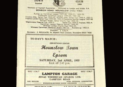 Hounslow v Epsom 02.04.1955