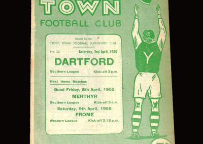 Yeovil v Dartford 02.04.1955