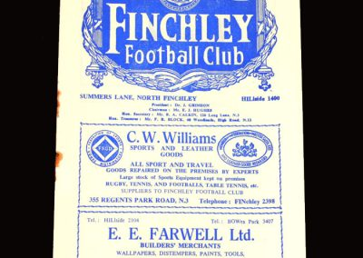 Finchley v Tooting 02.04.1955