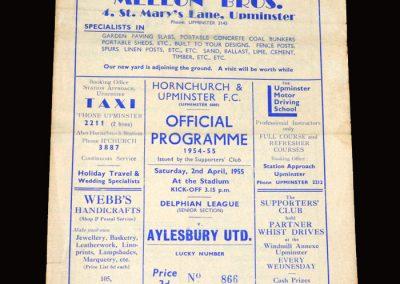 Hornchurch v Aylesbury 02.04.1955