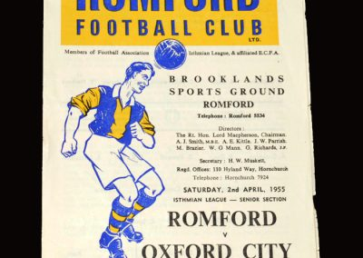Romford v Oxford 02.04.1955