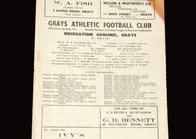 Grays v Erith 02.04.1955