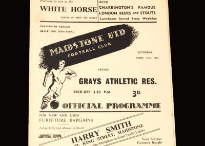 Maidstone v Grays Athletic Res 02.04.1955