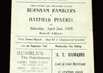 Burnham v Hatfield 02.04.1955