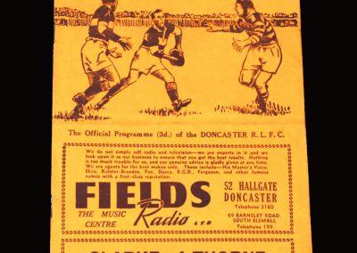 Doncaster v Bradford (Rugby League) 02.04.1955