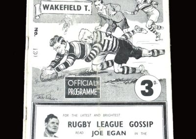 Hull v Wakefield (Rugby League) 02.04.1955