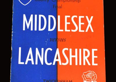 Middlesex v Lancashire (Rugby Union County Final) 02.04.1955