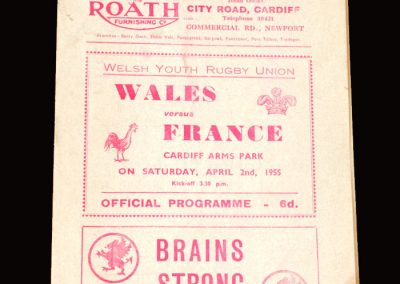 Wales v France (Rugby Union Under 18) 02.04.1955
