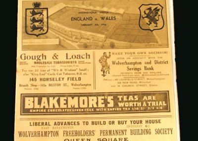 England v Wales 05.02.1936