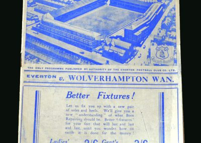 Everton v Wolves 08.10.1938