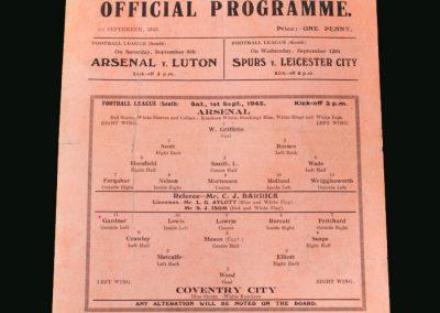 Arsenal v Coventry 01.09.1945