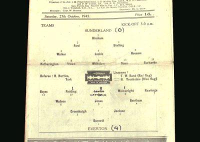 Sunderland v Everton 27.10.1945 (Lawton on his way to Chelsea)