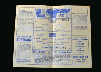 Chelsea v Birmingham 10.11.1945 (Lawton Debut)