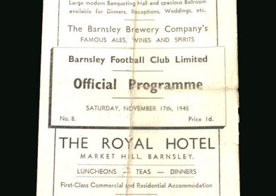 Barnsley v Stoke 17.11.1945