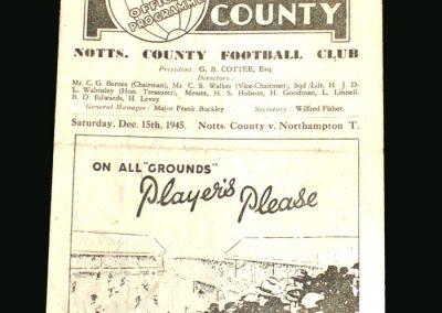 Notts County v Northampton 15.12.1945