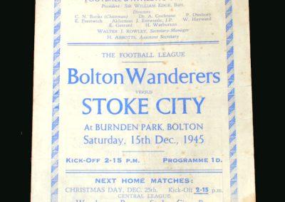 Bolton v Stoke 15.12.1945
