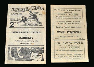 Newcastle v Barnsley 05.01.1946 (FA Cup 3rd Round 1st Leg) | Barnsley v Newcastle 09.01.1946 (FA Cup 3rd Round 2nd Leg)