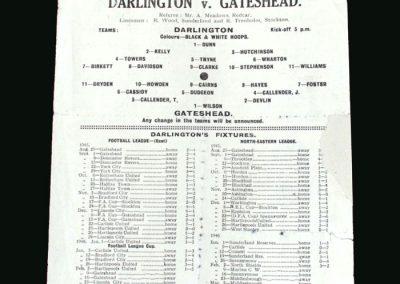 Darlington v Gateshead 09.02.1946