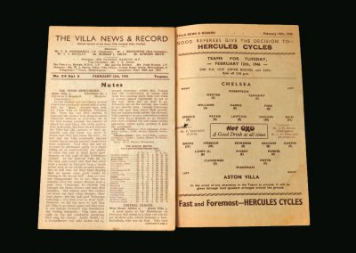 Aston Villa v Chelsea 12.02.1946 (FA Cup 5th Round 2nd Leg)