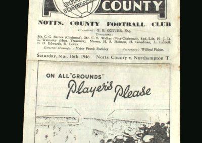 Notts County v Northampton 16.03.1946