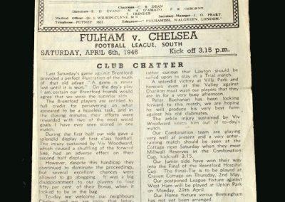 Fulham v Chelsea 06.04.1946