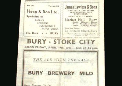 Bury v Stoke 19.04.1946